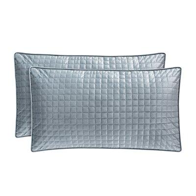 Baltasar Velvet Lumbar Pillow Color: Blue