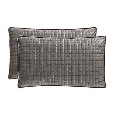 Baltasar Velvet Lumbar Pillow Color: Graphite