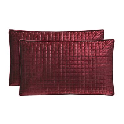 Baltasar Velvet Lumbar Pillow Color: Wine