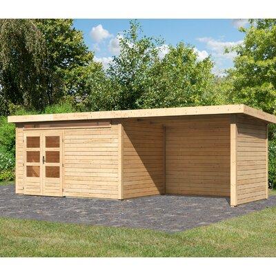 656 cm x 244 cm Gartenhaus Kandern 7 | Garten > Gartenhäuser | Yellow | Massivholz | Woodfeeling