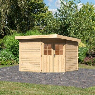 274 cm x 274 cm Gartenhaus Neuruppin 4 | Garten > Gartenhäuser | Yellow | Massivholz | Woodfeeling