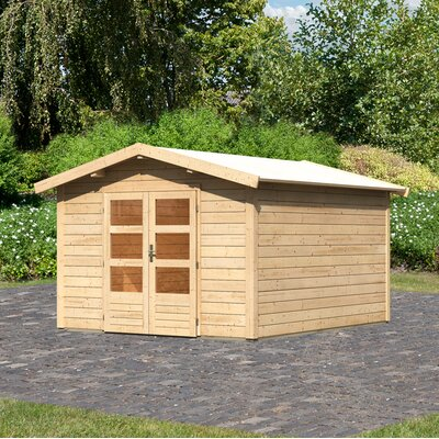 304 cm x 364 cm Gartenhaus Tastrup 8 | Garten > Gartenhäuser | Brownwhite | Massivholz | Woodfeeling