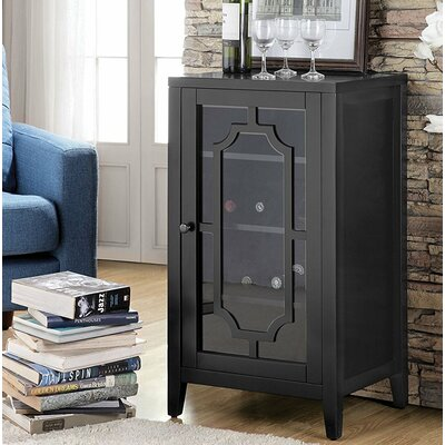 Port Chester Dual Function Bar Cabinet Color: Black