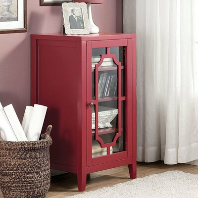 Port Chester Dual Function Bar Cabinet Color: Burgundy