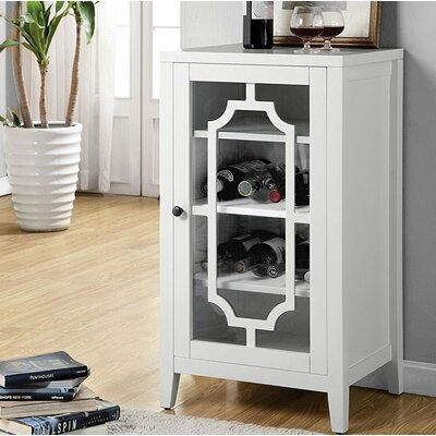 Port Chester Dual Function Bar Cabinet Color: White
