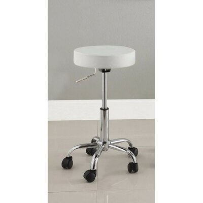 Lauderhill Stylish Space Saving Adjustable Height Swivel Bar Stool Upholstery: White
