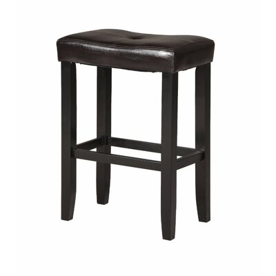 Kingston Seymour Wooden 24 Bar Stool Upholstery: Espresso Brown