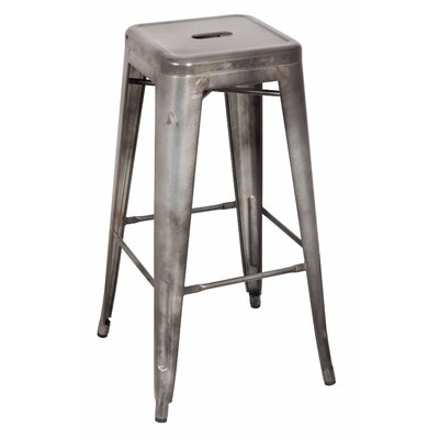 Mckim Metal 30 Bar Stool Color: Antiqued Silver