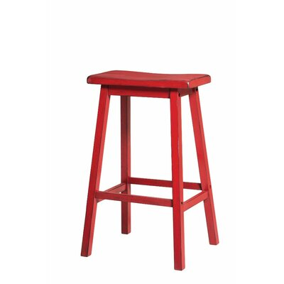 Snowden Wooden 29 Bar Stool Color: Red