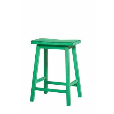 Snipes Wooden 24 Bar Stool Color: Green