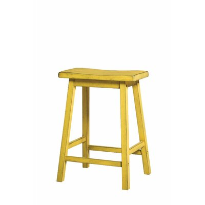 Snipes Wooden 24 Bar Stool Color: Yellow