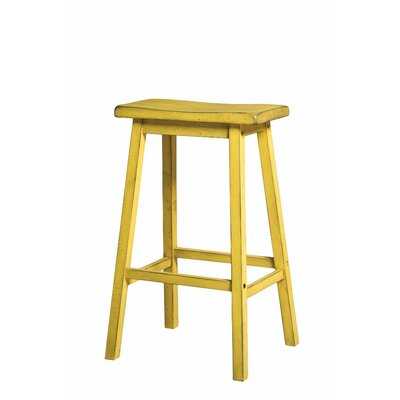 Snowden Wooden 29 Bar Stool Color: Yellow