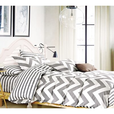 Lachance Chevron 100% Cotton Sheet Set Size: Queen