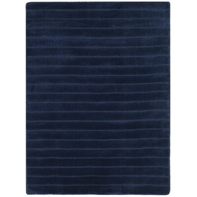 Upper Deck Hand-Woven Wool Navy Blue Area Rug Rug Size: Rectangle 2 x 3