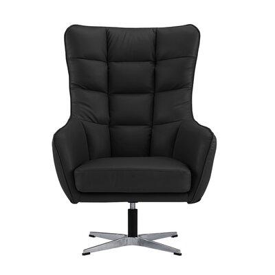 Mehrotra Swivel Armchair Upholstery : Black