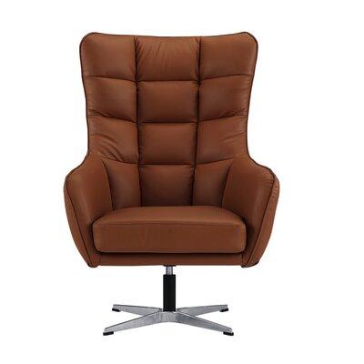 Mehrotra Swivel Armchair Upholstery : Camel