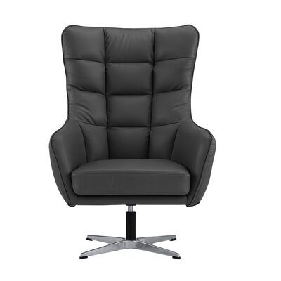 Mehrotra Swivel Armchair Upholstery : Dark Gray