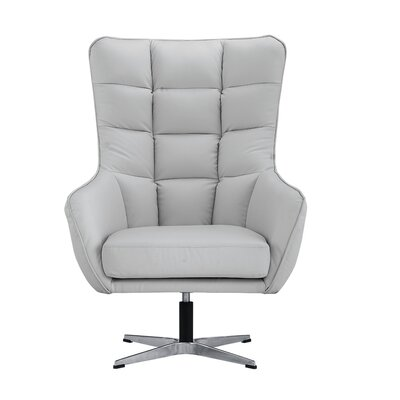 Mehrotra Swivel Armchair Upholstery : Light Gray