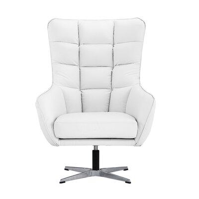 Mehrotra Swivel Armchair Upholstery : White