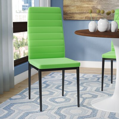 Kartik Side Chair (Set of 4) Upholstery: Green