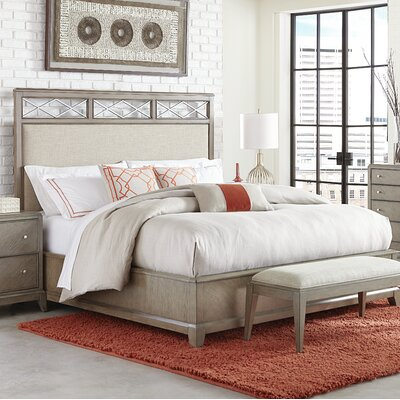 Whicker Upholstered Platform Bed Size: King