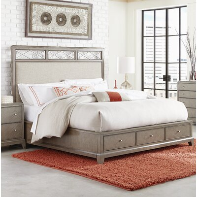 Whicker Upholstered Storage Platform Bed Size: King
