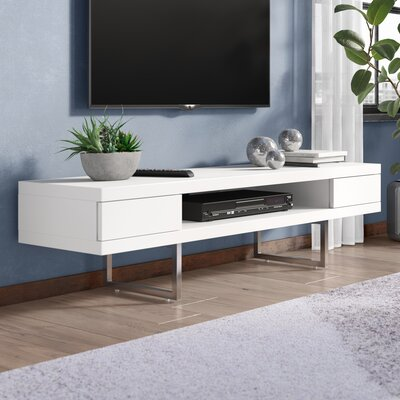 Mayela 63 TV Stand Color: White Lacquer