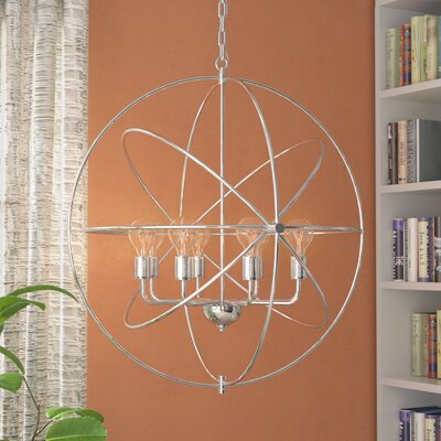 Hamby 8-Light Globe Pendant Finish: Polished Nickel