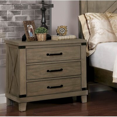 Aldfreck 3 Drawer Nightstand (Set of 3)
