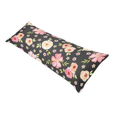 Watercolor Floral Pillow Case P-Body-Case-WatercolorFloral-BK-PK