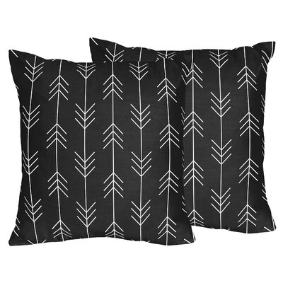 Rustic Patch Arrow Throw Pillows