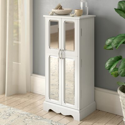 Bayliff Jewelry Armoire with Mirror Color: Cream