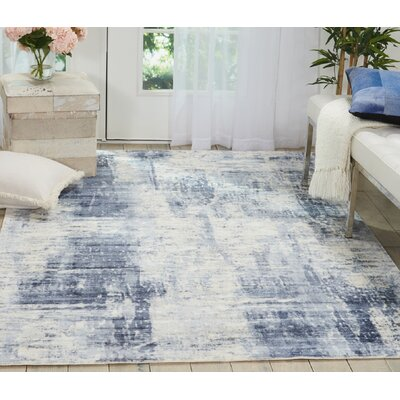 Mcgill Modern Abstract Hand-Woven Blue Area Rug Rug Size: Rectangle 53 x 75
