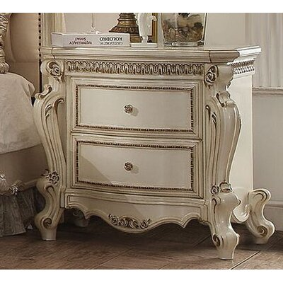 Cowart 2 Drawer Nightstand Color: Antique Pearl