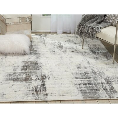 Mcgill Modern Abstract Hand-Woven Ivory/Gray Area Rug Rug Size: Rectangle 53 x 75