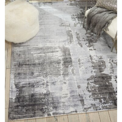Mcgill Modern Abstract Hand-Woven Gray Area Rug Rug Size: Rectangle 39 x 59
