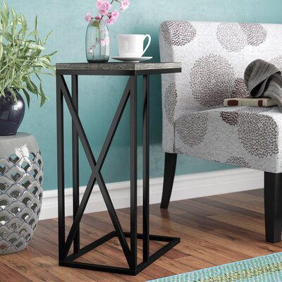 Steuben C End Table Color: Weathered Gray/Black