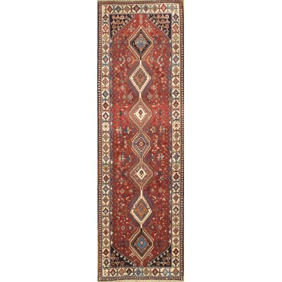 Persian Yalameh Hand-Knotted Wool Red Area Rug