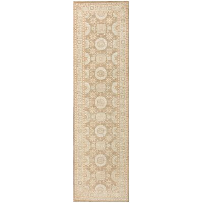 Tabriz Design Hand-Knotted Wool Ivory Area Rug
