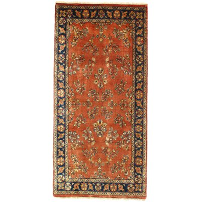 Sarouk Design Hand Knotted Wool Copper Area Rug