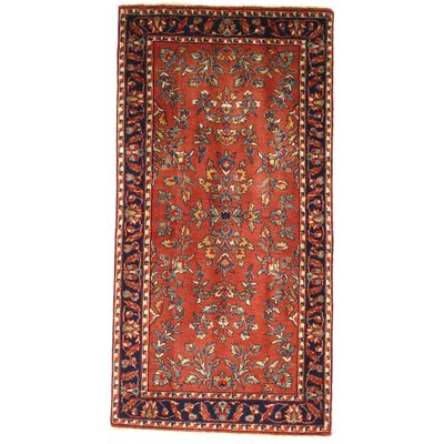 Sarouk Design Hand-Knotted Wool Rust Area Rug