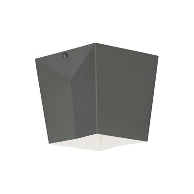 Gaydos 1-Light Flush Mount Finish: Rubberized Gray, Voltage: 120V