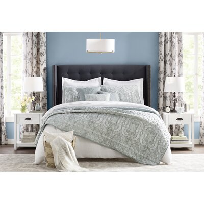 Crawley Upholstered Platform Bed Size: Queen, Color: Dark Gray