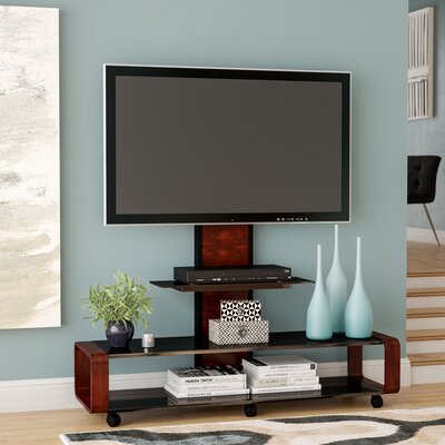 Stemple 60 TV Stand Color: Dark Oak/Black