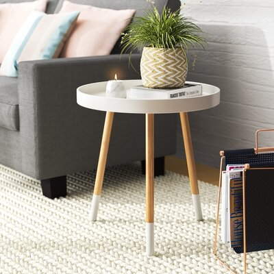 Valazquez Round Coffee Table Color: White