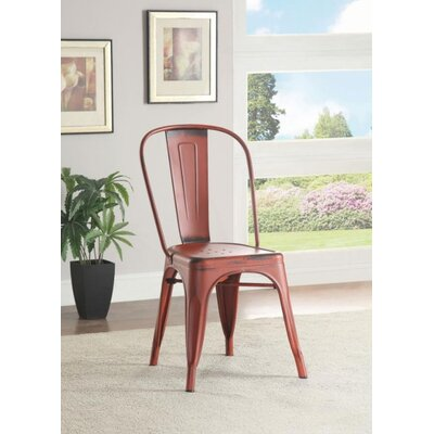 Mcmullen Dining Chair Finish: Red
