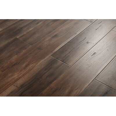 6 x 48 x 12mm Cumaru Laminate Flooring in Smokey Dark Brown