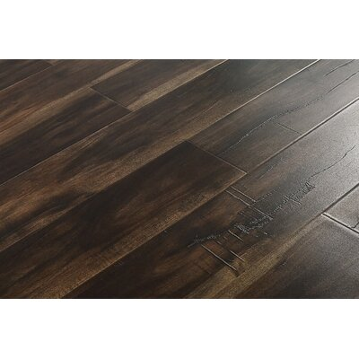 6 x 48 x 12mm Walnut Laminate Flooring in Smokey Dark Brown
