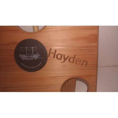 Image of Engraved Outdoor Solid Wood Bistro Table