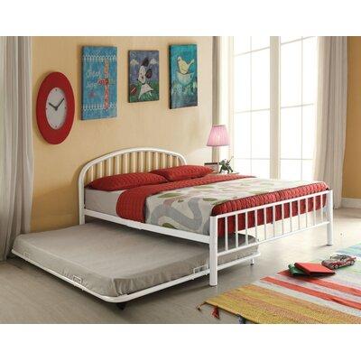 Kinner Metal Full Panel Bed Color: White
